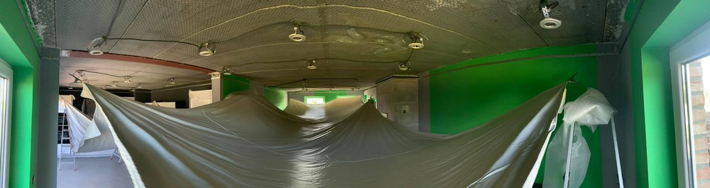 Installation plafond tendu panorama